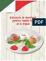 Algida colectia de retete cu deserturi pentru familia ta