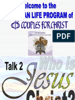 Cfc training on spiritual gifts spiritual gift prophecy talk 2 who is jesus christ negle Images