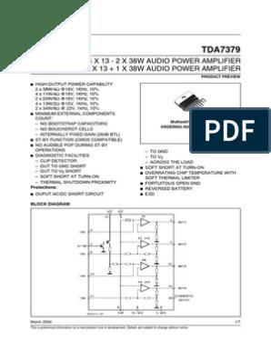 Tda 7379 | Amplifier | Electrical Engineering