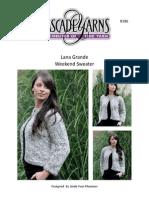 B186 LanaGrandeSweater Pattern