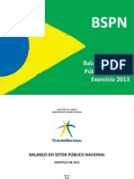 Balanço do Setor Público Nacional BSPN 2013