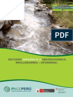 Estudio hidrológico mollebamba