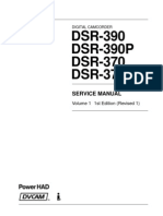Sony Dsr-370 Dsr-390 Vol-1 1st-Edition Sm