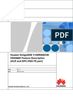 Huawei SingleSDB V100R006C00 HSS9860 Feature Description(HLR and EPC-HSS FE Part)