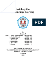 Paper of Sociolinguistics in Language Learning