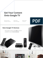 Get Your Content on Google Tv