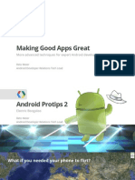 Making Good Apps Great More Advanced Topics for Expert Android Developers