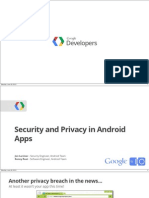 Security and Privacy in Android Apps