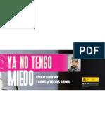 Todas y todos a una. Valla publicitaria en español