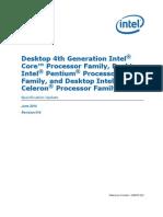 4th Gen Core Family Desktop Specification Update