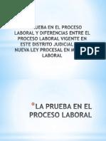 La Prueba en El Proceso Laboral y Diferencias