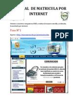 Tutorial de Matricula Por Internet