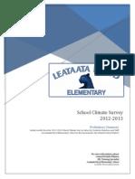 LFE School Climate Survey