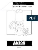 Anson E Typs Gate Valve With Fail Safe Closed Actuator