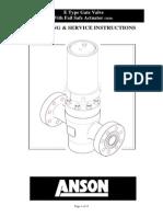 Anson E Typs Gate Valve With Fail Safe Closed Actuator