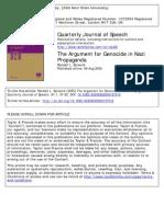 The Argument for Genocide in Nazi Propaganda