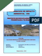 DIA Explotacion Minera Polimetalica El Muqui