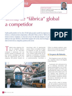 """China, de """"fábrica"""" global a competidor"""