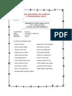 Proyecto de Ciencias Maracuya 2013