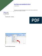 Cum de a Crea Un Buton Macro Personalizat in Excel