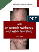 Akne - Ursachen, Behandlung - Weizen, Milch, KH
