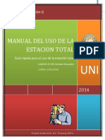 Manual Del Uso de La Estación Total
