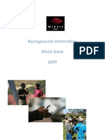 Background Information Wizzit Bank 2009