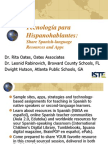 Share Spanish-language Resources and Apps