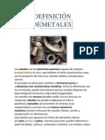 Definición de Metales