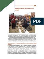Bolivia Incorpora Sus Saberes Ancestrales a La Legislalción Nacional