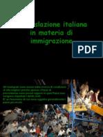 La Legge Attuale in Materia Di Immigrazione