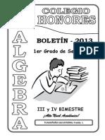 Algebra Primero de Secundaria (II)