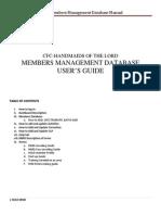 HOLD Members Management Database Manual