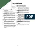 USMLE - BRS Pathology - Term List