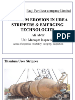 Titanium Erosion in Urea Strippers & Emerging Technologies