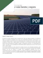 Energía Solar Más Barata y Segura