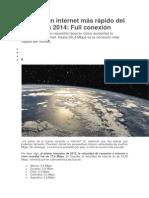 El País Con Internet Más Rápido Del Mundo en 2014
