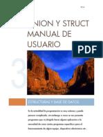 Manual de Usuario de Estructuras y Union