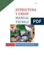 Manual Tecnico de Estructuras y Union