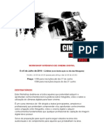 Workshop Cinema Programa