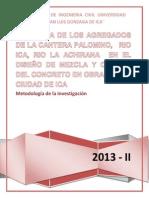 Proyecto de Investigacion Eficiencia de Los Agregados de La Cantera Palomino