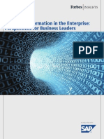 Managing Information in the Enterprise - Perspectives for Business Leaders