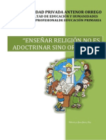 Ensayo de Eduacion Religiosa