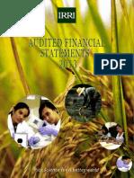 IRRI AR 2013 Audited Financial Statements