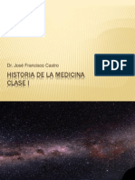 Historia de La Medicina Clase 1