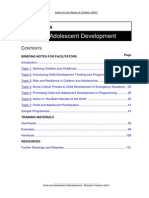 Children and Adolescent Development