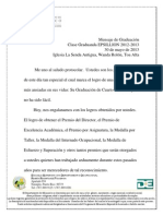 Mensaje Clase Graduanda Epsillion 2012-2013
