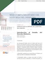 Web Complementario de Historia Del Derecho