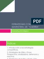 Tema 12 Estrategias Competitivas -Marketing de Guerra