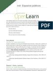 OpenLearn Spanish Language Espacios publicos